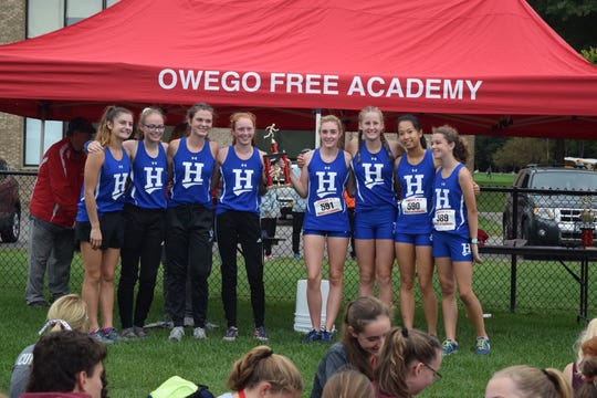 The Horseheads girls cross country team won the team title at the Owego Invitational on Sept. 14, 2019 at Owego Free Academy.