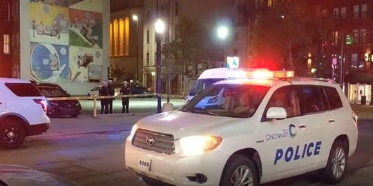 A man was shot in the stomach downtown just after 3 a.m.