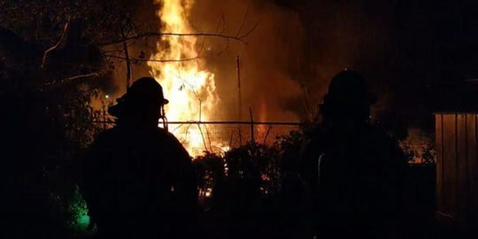 A junkyard fire happened in Carthage early Sunday morning.