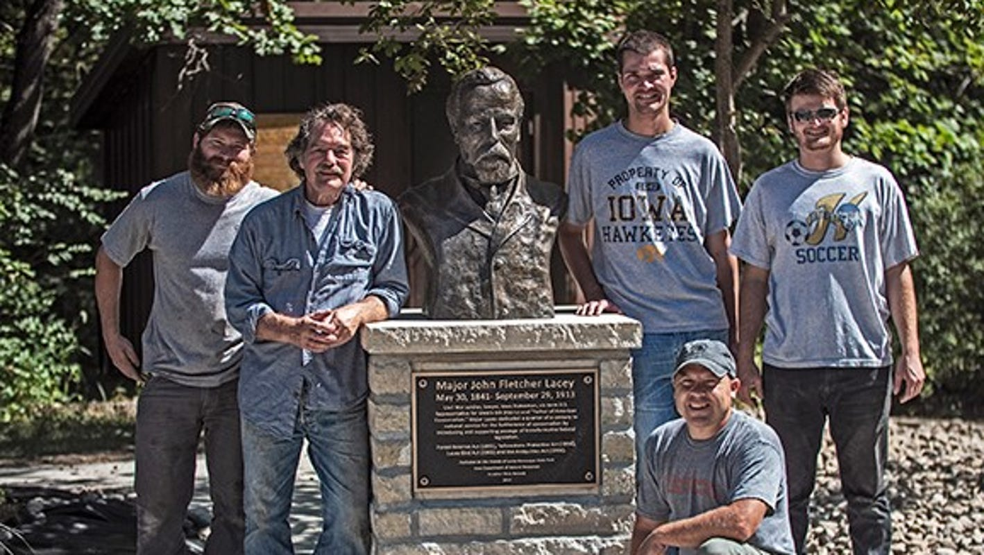 Local sculptor completes bronze bust of John Fletcher Lacey