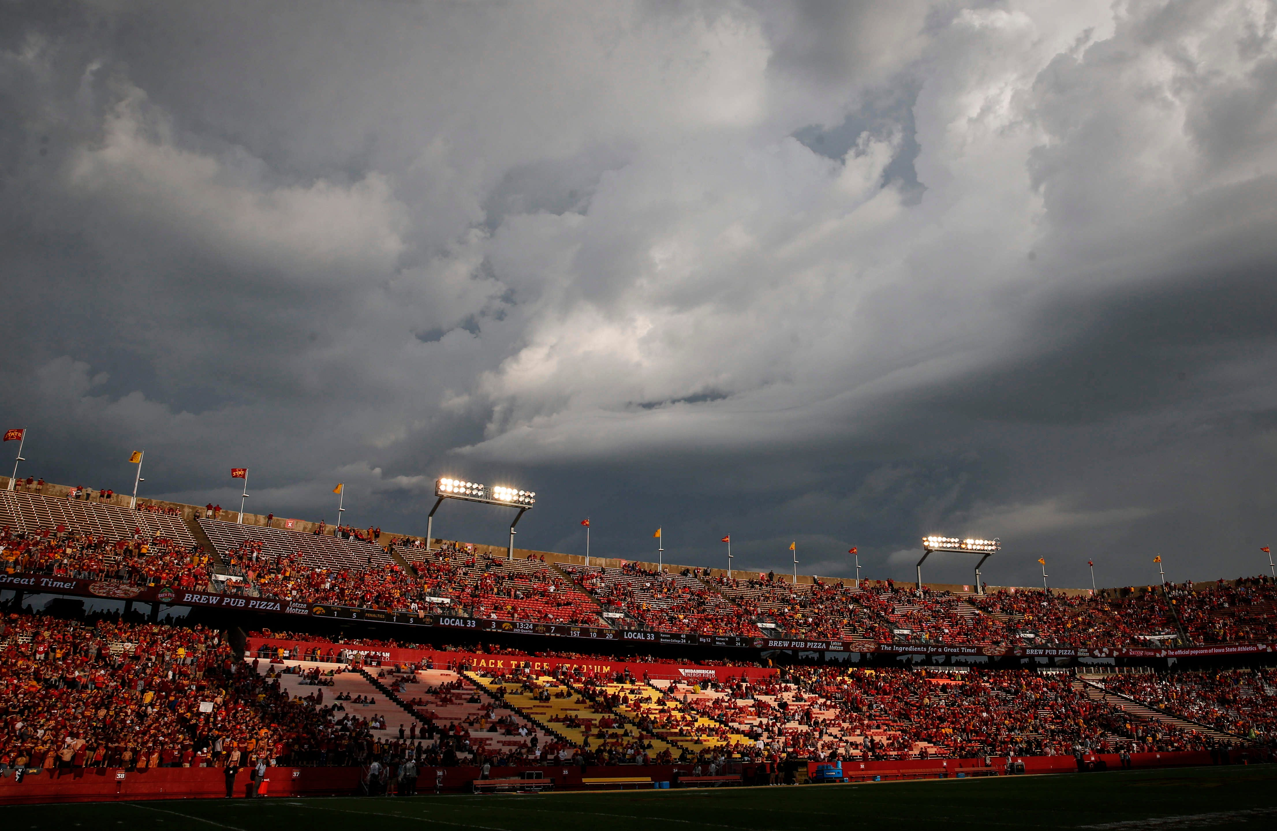 Photos: 2019 Cy-Hawk game interrupted by storms