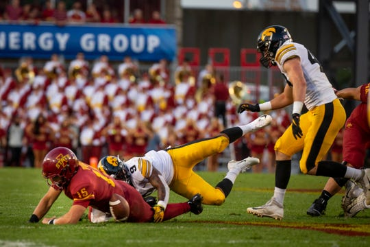 Creating turnovers, like Iowa did with Geno Stone against Iowa State, could be a key counter-point in the Hawkeyes' likely 4-3 approach at Michigan.