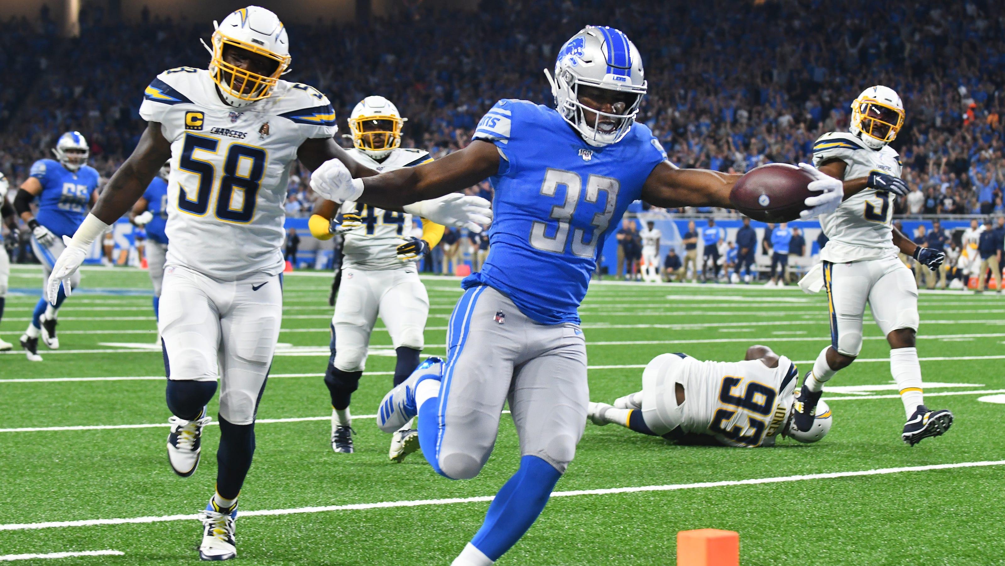 Lions Kerryon Johnson Packers Aaron Jones Get It Done Despite Cautious Workload