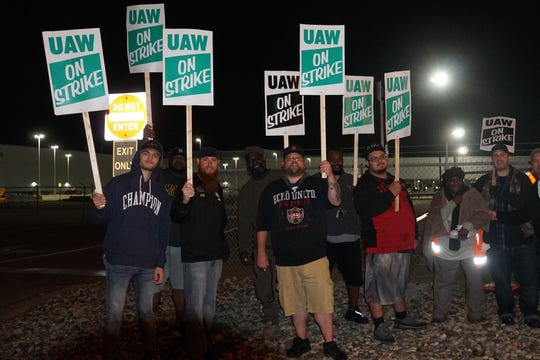 Aramark workers at Flint Assembly on Sunday.