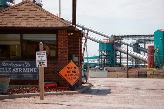 In this Thursday, Sept. 5, 2019 photo shows the entrance to the Blue Ayr Mine south of Gillett, Wyo.