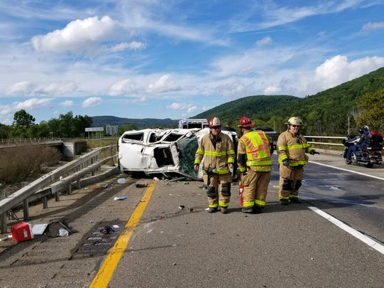 A driver sustained minimal injuries following a one-car roll over crash Saturday afternoon I-86 west of Exit 38 in Bath.