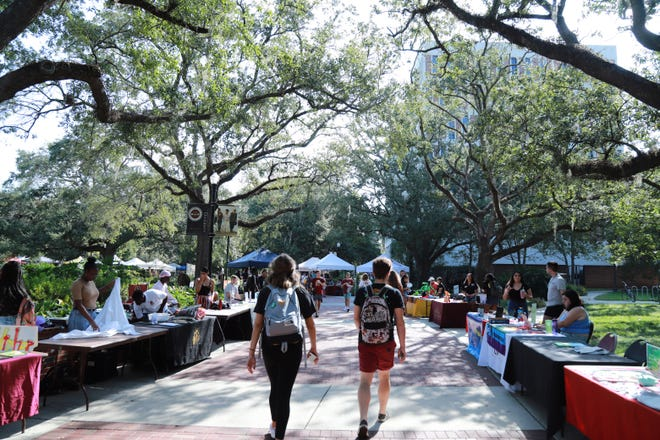 Booths lined the end of Legacy Walk, each with a focus on varying aspects of wellness.