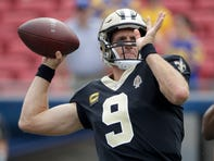 Saints vs. Rams: QB Drew Brees leaves game with hand injury, Teddy Bridgewater in