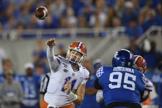 Florida quarterback Kyle Trask will make his first career start Saturday against Tennessee following an injury to Feleipe Franks.