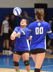 Cotter's Ashley Garay passes during a recent match at Cotter.