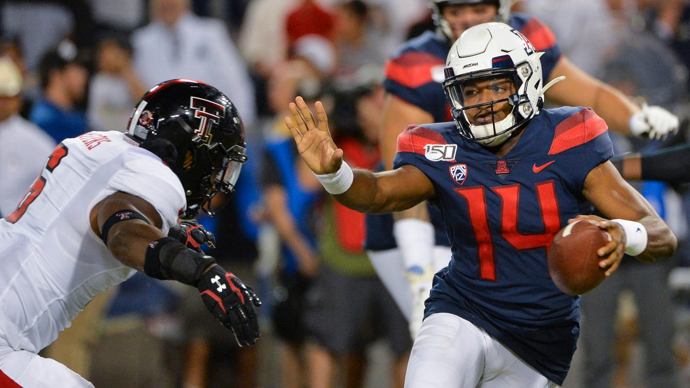 Khalil Tate, Arizona grind out home win over Texas Tech
