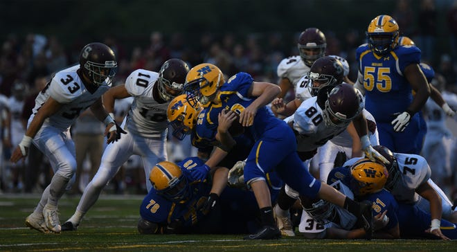 Mikel Holden scored two touchdowns in an upset win over Shippensburg a year ago.