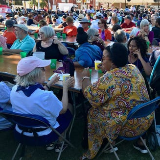 A multi-cultural crowd gathered at Penn Park for the Kindness Festival earlier this month.