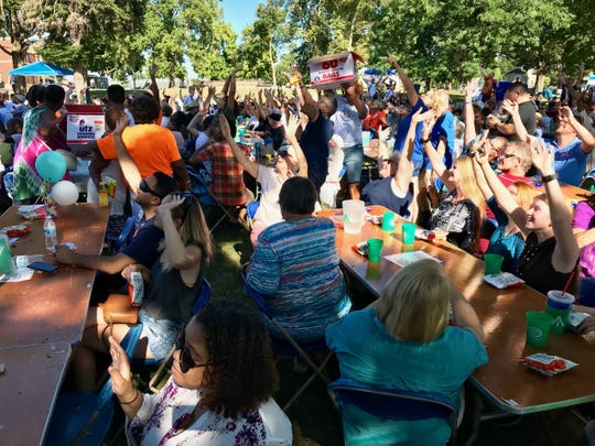 "A large multicultural crowd turned out Sunday, Sept. 15 in Penn Park for the ""Celebrating York's Unity Through 10,000 Acts of Kindness"" dinner. The event featured free food and entertainment."
