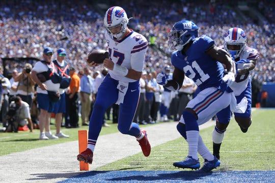 Josh Allen lit it up in the first half as Bills roll past Giants