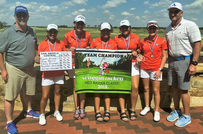 The San Angelo Central High School girls golf team finished first at the 2019 Red Raider Classic in Lubbock Saturday, Sept. 14, 2019.