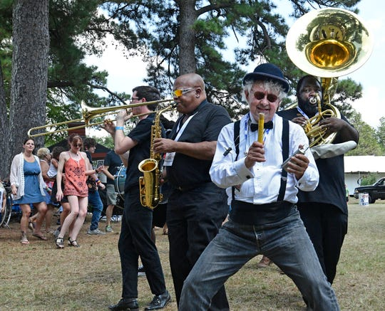 The Shreveport Second Line Brass Brass Band plays Saturday at the 16th Annual Highland Jazz and Blues Festival.