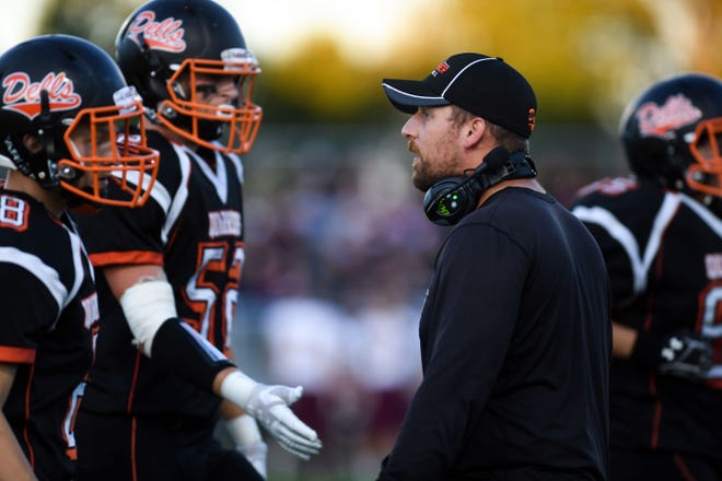 Dell Rapids football coach Jordan Huska led the Quarriers to a perfect regular season record before losing in the opening round of the 2019 Class 11A playoffs.