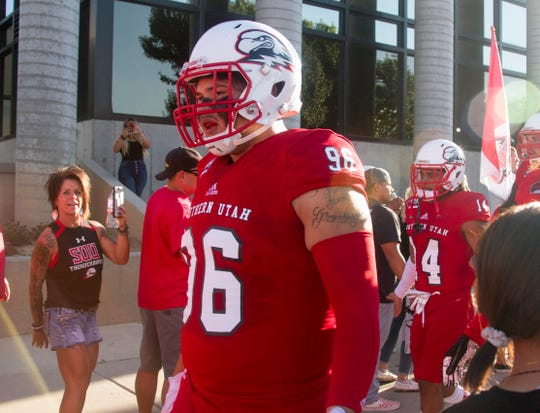 Southern Utah University football defeats Stephen F. Austin 45-38 in overtime Saturday, Sept. 14, 2019.