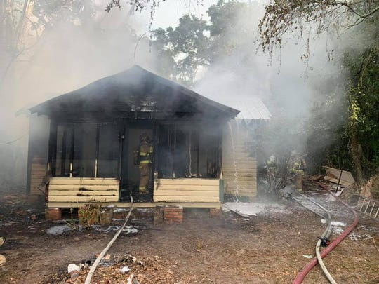 This morning at 8:28, the Tallahassee Fire Department was dispatched to a structure fire on the 200 block of Gaile Ave.  The building is considered a total loss.