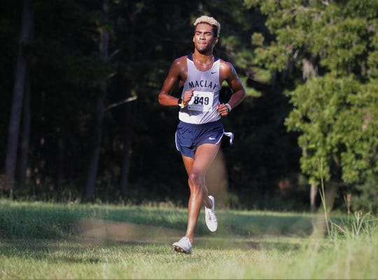 Maclay senior Jay Brown won the Red Hills Invitational cross country meet at Elinor Klapp-Phipps Park on Saturday, Sept. 14, 2019.