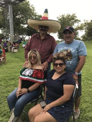 (L-r), Alice Soria and Sandra Burrola with their spouses Jorge Soria and Santiago Burrola enjoyed the Diez y Seis de Septiembre celebration Saturday at Chamizal National Memorial.