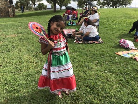 Mia G. Hinojo, 4, was ready for the Diez y Seis de Septiembre celebration Saturday at Chamizal National Memorial.