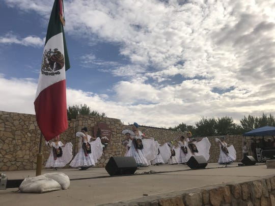 The Paso del Norte Folklorico danced Veracruz numbers at the Mexican Independence Day celebration Saturday at Chamizal National Memorial.