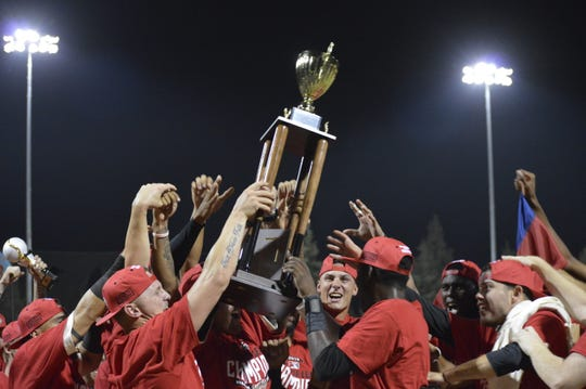 The Visalia Rawhide defeated the Lake Elsinore Storm 4-3 on Saturday night to win the 2019 California League championship.