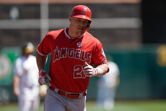 Angels center fielder Mike Trout will finish the 2019 season with a .291 average, 110 runs scored, 104 RBI and a career-high 45 home runs.