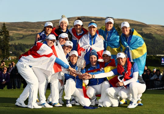 Europeans stun Americans to win Solheim Cup for first time since 2013