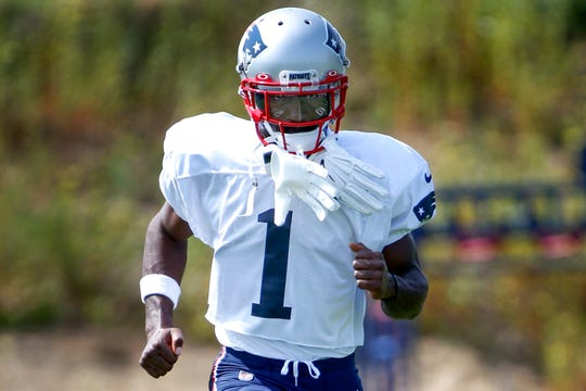 Antonio Brown during a Patriots practice on Wednesday.