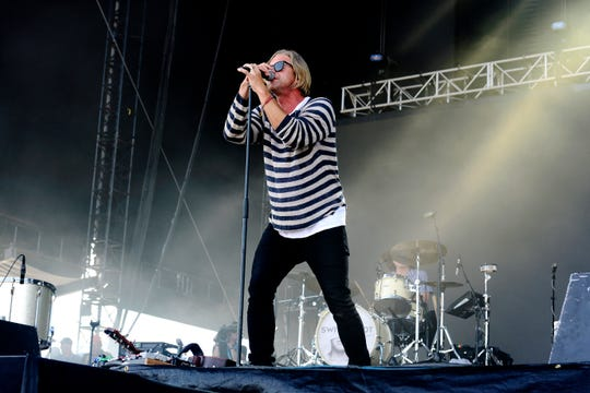 DEL MAR, CALIFORNIA - SEPTEMBER 14: Jon Foreman of Switchfoot performs at KAABOO 2019 at the Del Mar Race Track on September 14, 2019 in Del Mar, California. (Photo by Jerod Harris/FilmMagic) ORG XMIT: 775394097 ORIG FILE ID: 1174767969