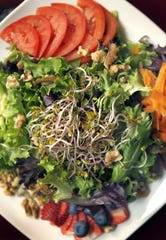 The Organic Biergarten Salad has been on the menu for years at Stone Arch Brewpub in Appleton.