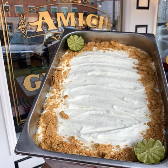 Key lime pie gelato at Amici's Gelato Cafe in Asbury Park.
