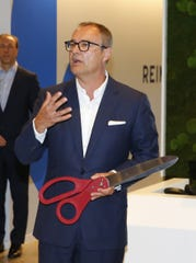 International Flavors & Fragrances CEO Andreas Fibig during a ribbon-cutting ceremony at a new research and development lab at Bell Works in Holmdel, N.J. Monday, September 16, 2019.
