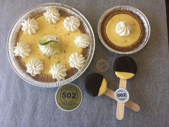 Key lime pies and pops at 502 Baking Company in Brick.