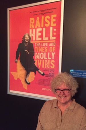 """Maryedith Burrell, who's lived in Asheville for several years, worked as a creative consultant on """"Raise Hell: The Life and Times of Molly Ivins."""""""