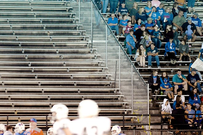 Officials promoted support for a 1/4-cent sales tax referendum in Madison County as a way to pay for improvements to school facilities, including the Madison High School athletics stadium. Roughly one-third of the home bleachers are currently blocked off due to safety concerns.