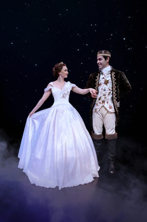 """Dominique Solano as Ella and Angel Santiago at Prince Topher take the Cocoa Village Playhouse stage in """"Cinderella."""""""
