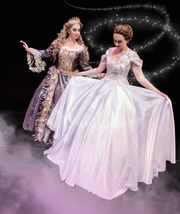 "Catherine Moubray as Marie and Dominique Solano as Ella in the Cocoa Village Playhouse production of ""Cinderella."""