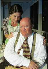 "Adonna Niosi as Kate Jerome and David Hill as Jack Jerome in ""Brighton Beach Memoirs"" at Surfside Playhouse in Cocoa Beach."