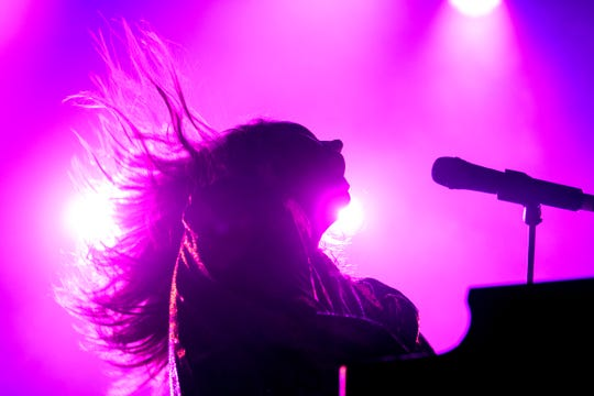 Grace Potter plays during day 1 of the Grand Point North Music festival at Waterfront park on Saturday, Sept. 14, 2019 in Burlington, Vermont. (BRIAN JENKINS/for the FREE PRESS)
