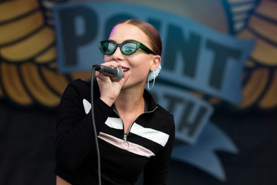 Princess Nostalgia plays during day two of the Grand Point North music festival at Waterfront Park on Sunday, Sept. 15, 2019 in Burlington, Vermont.
