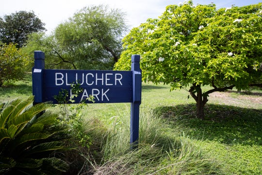 Blucher Park located at South Tancahua Street and Kinney Street.