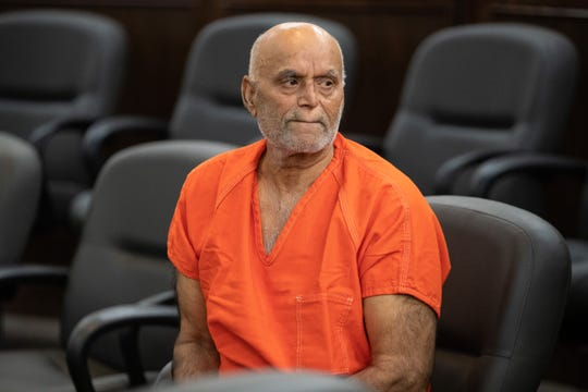 Mohammad Sahi, the 72-year-old accused of killing his daughter, a grandson and injuring another grandson, appears in the 105th District Court on Monday, Sept. 16, 2019.