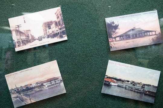 Photos of Corpus Christi before the 1919 hurricane on display in the Nueces County Courthouse to commemorate the 100th anniversary of the 1919 storm on Monday, Sept. 16, 2019.
