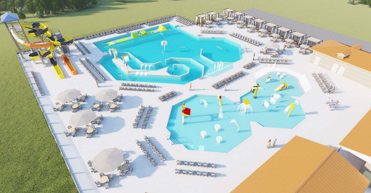 Diggerland USA, a Berlin Township amusement park, announced plans Monday to open a two-pool complex, The Water Main, in 2020.
