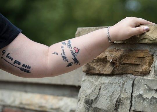 To help break self-harm habits, Courtney Bagley decided to get a tattoo.