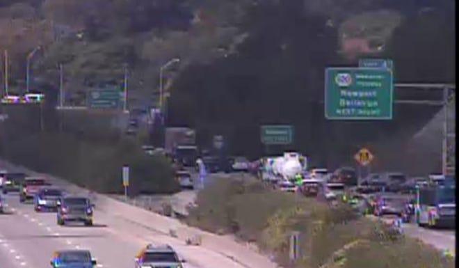 A crash closed northbound Interstate 417 Monday afternoon.